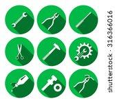 Tools Icons Set. Glue  Pliers ...
