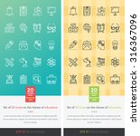 set icons on the theme of... | Shutterstock .eps vector #316367096