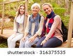 three generations of women... | Shutterstock . vector #316375535