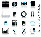 office   business icons set | Shutterstock .eps vector #31637674