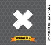 vector icon of delete on dark...