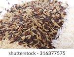 stacks of raw gluten free rice... | Shutterstock . vector #316377575