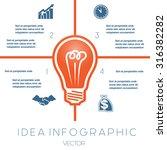 light bulb infographics... | Shutterstock .eps vector #316382282