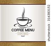 coffee menu for restaurant.... | Shutterstock .eps vector #316383152