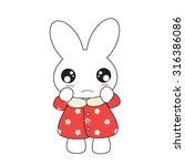 cute cartoon bunny girl in a... | Shutterstock .eps vector #316386086
