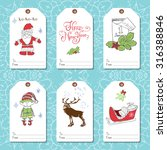 set of new year gift tags... | Shutterstock .eps vector #316388846
