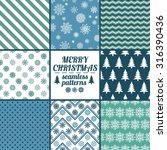 set of christmas and new year... | Shutterstock .eps vector #316390436