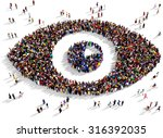 large group of people seen from ... | Shutterstock . vector #316392035