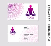 business card yoga | Shutterstock .eps vector #316394885
