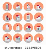 a flat city of urban style... | Shutterstock . vector #316395806