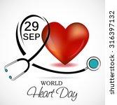 vector illustration world heart ... | Shutterstock .eps vector #316397132