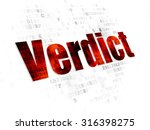 law concept  pixelated red text ... | Shutterstock . vector #316398275