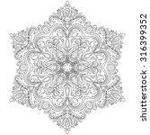 damask vector floral pattern... | Shutterstock .eps vector #316399352