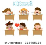kids in classroom  child in... | Shutterstock .eps vector #316405196
