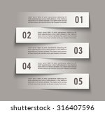 infographic design with paper... | Shutterstock .eps vector #316407596