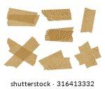 tape isolated on white.  | Shutterstock . vector #316413332