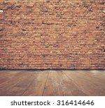 vintage interior with brick... | Shutterstock . vector #316414646