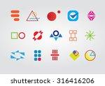 abstract vector logos set | Shutterstock .eps vector #316416206