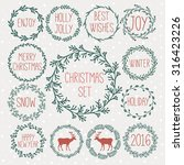 Set Of Winter Christmas Icons ...