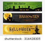 three halloween banners. green  ... | Shutterstock .eps vector #316428305