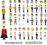 cartoon vector characters of... | Shutterstock .eps vector #316430126
