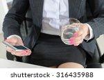businesswoman during a break...   Shutterstock . vector #316435988