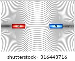 magnetic lines of force   Shutterstock .eps vector #316443716
