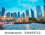 the night view of the lujiazui... | Shutterstock . vector #316453712