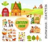 big set of cartoon farm... | Shutterstock .eps vector #316479536