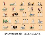 medical staff and patients... | Shutterstock .eps vector #316486646