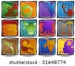 zodiac close up icon set | Shutterstock .eps vector #31648774