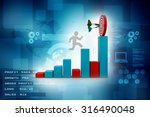 3d man jumping across the... | Shutterstock . vector #316490048