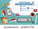 performance management and flat ... | Shutterstock .eps vector #316491746