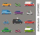 transportation and automotive... | Shutterstock .eps vector #316493882