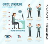 infographic office syndrome... | Shutterstock .eps vector #316493972
