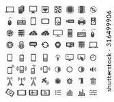 simplus icons series. network... | Shutterstock .eps vector #316499906