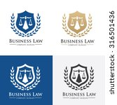 business law firm logo template | Shutterstock .eps vector #316501436