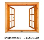Wooden Window Opened With...