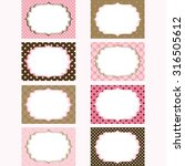 Pink And Brown Printable Label...