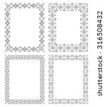 set of 4 frames with a... | Shutterstock . vector #316508432