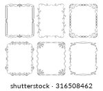 set of 6 rectangular decorative ... | Shutterstock . vector #316508462