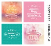 set of colored backgrounds with ... | Shutterstock .eps vector #316512032