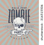halloween party poster with... | Shutterstock .eps vector #316515506