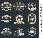 Set Of Retro Vintage Beer...