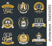 set of retro vintage beer... | Shutterstock .eps vector #316516352