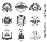 set of retro vintage beer... | Shutterstock .eps vector #316516385