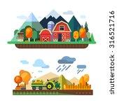farm life  natural economy ... | Shutterstock .eps vector #316521716