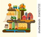 farm life  natural economy ... | Shutterstock .eps vector #316521722