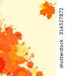 bright orange watercolor paint... | Shutterstock .eps vector #316527872