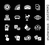 set icons of casino isolated on ... | Shutterstock . vector #316539092
